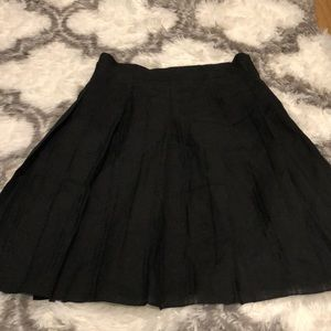 Burberry Black High Waisted A- Line Skirt